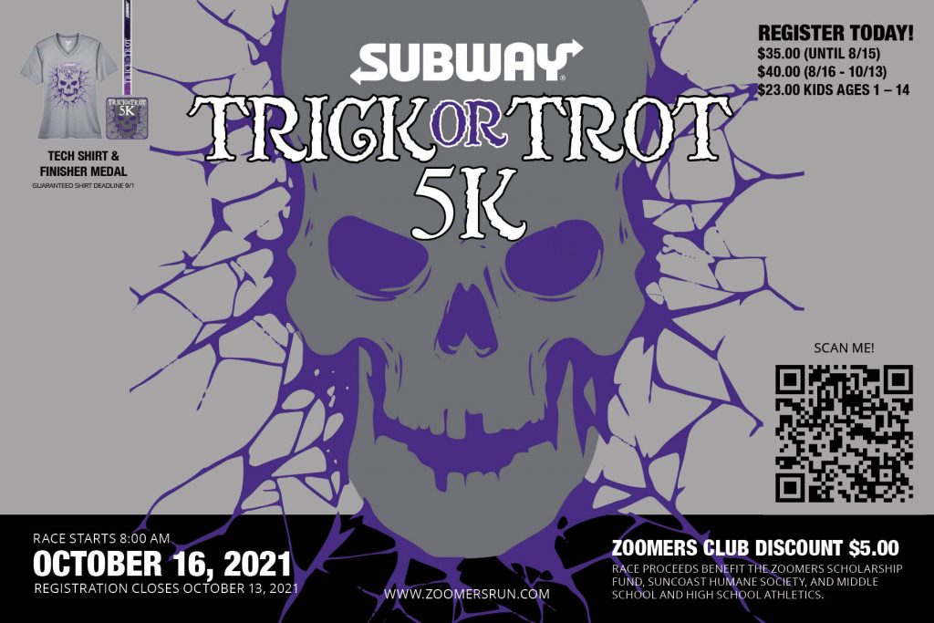 Register for the Subway Trick or Trot 5K Trail Run!